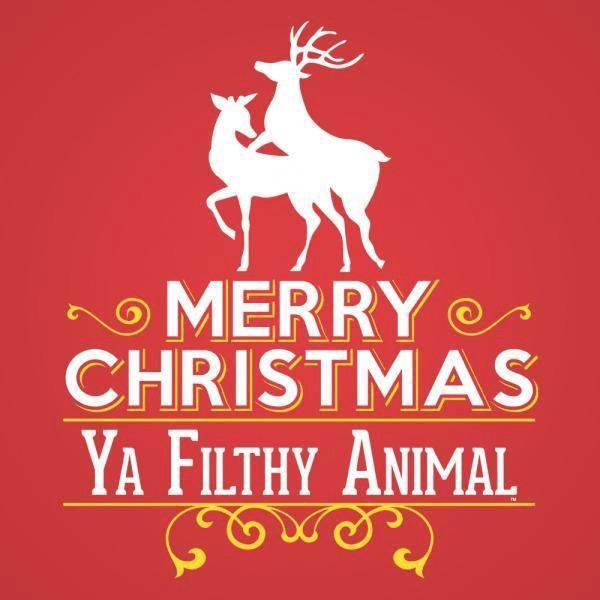 Merry Christmas Ya Filthy Animal Frame
