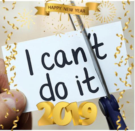 happy new year 2019 frame