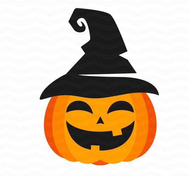 Halloween Pumpkin Profile Frame