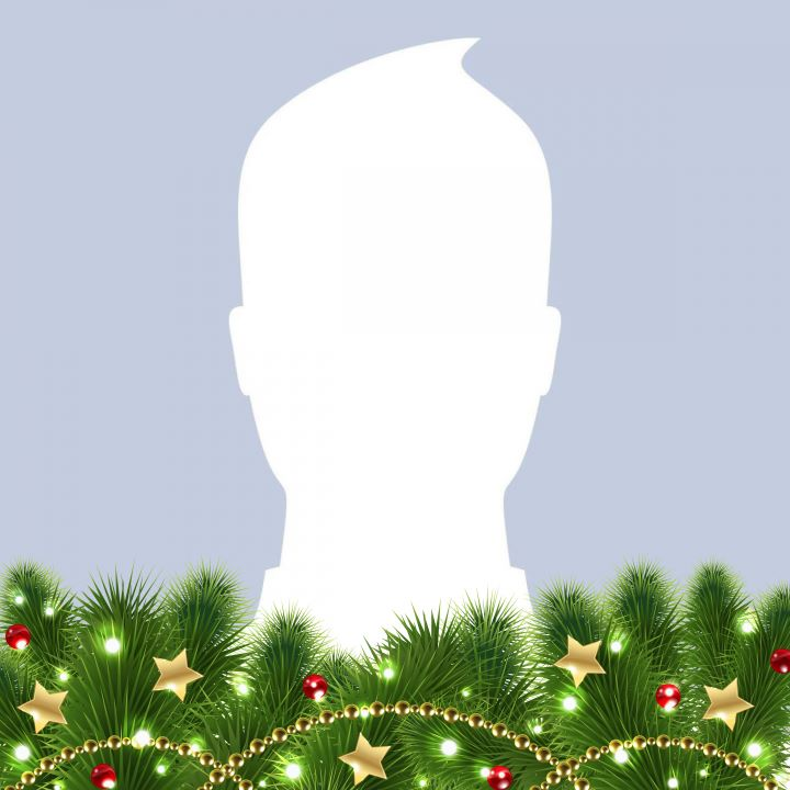 Toni Tails Merry Christmas Profile Frame