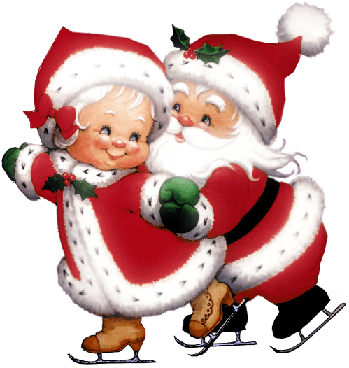 Mr. And Mrs. Claus Profile Frame