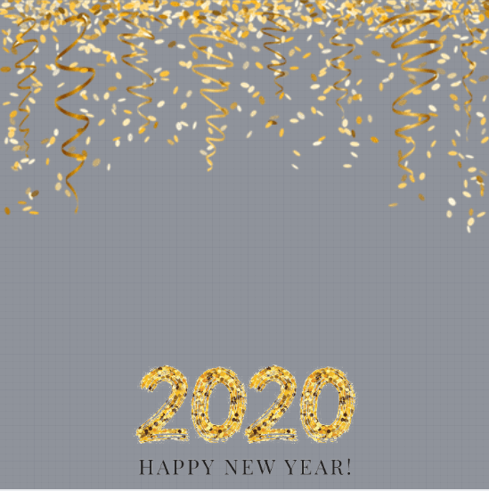 Happy New Year 2020 Profile Frame