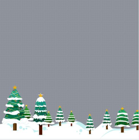 Christmas Tree Profile Frame