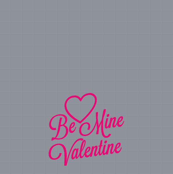 Be Mine Valentine Profile Frame