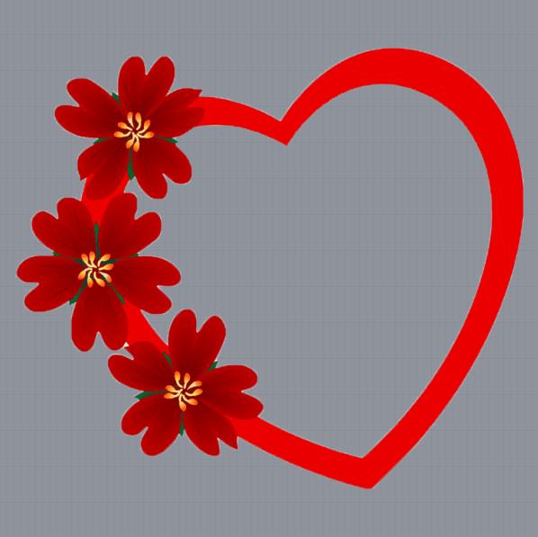 Red Flower Profile Frame