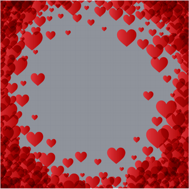 Valentines Red Heart Profile Frame