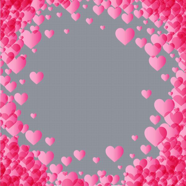 Valentines Pink Heart Profile Frame