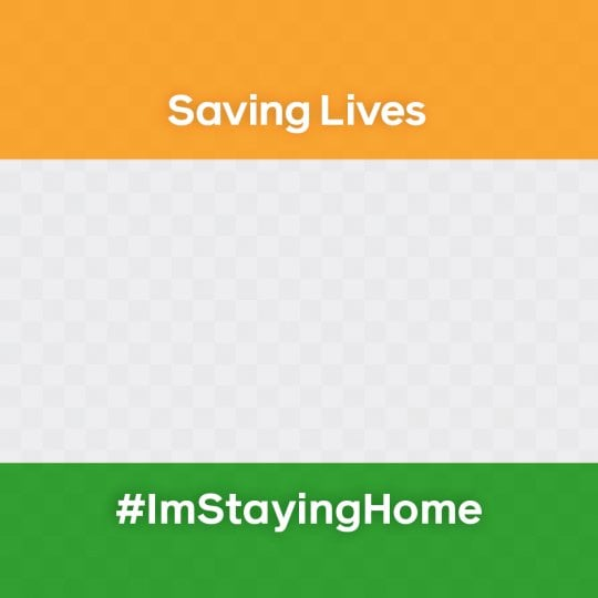 I Am Staying At Home Profile Frame