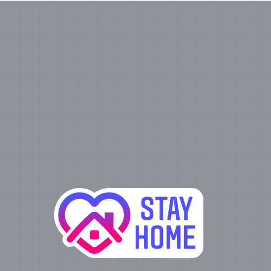 Stay Home Profile Frame