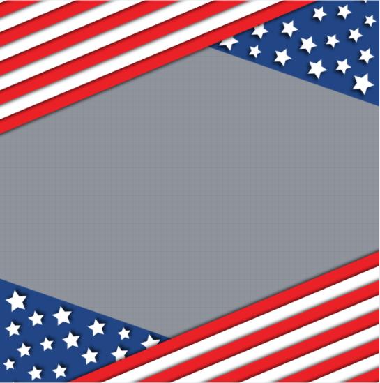 USA Flag Day Frame