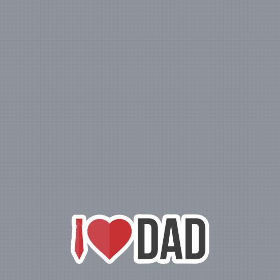 I Love Dad Frame