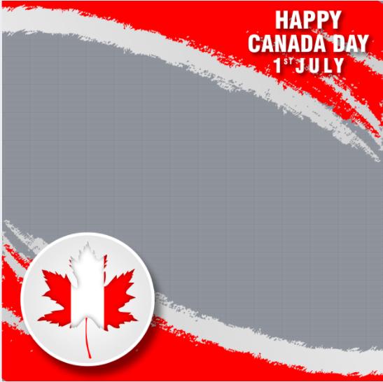 Canada Day Profile Frame