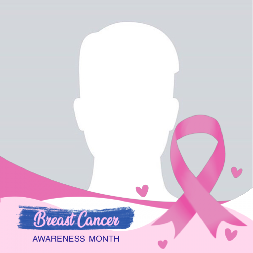 Pink Ribbon Profile Picture Frame