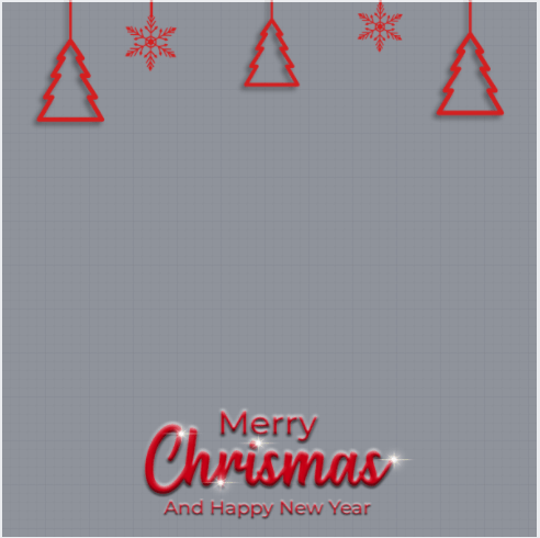 Merry Christmas And New Year Frame