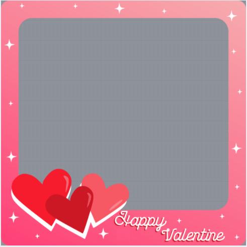 Happy Valentine Day Profile Frame