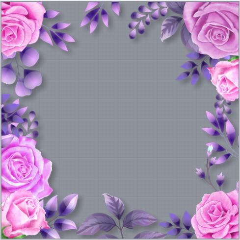 Spring Flower Profile Frame