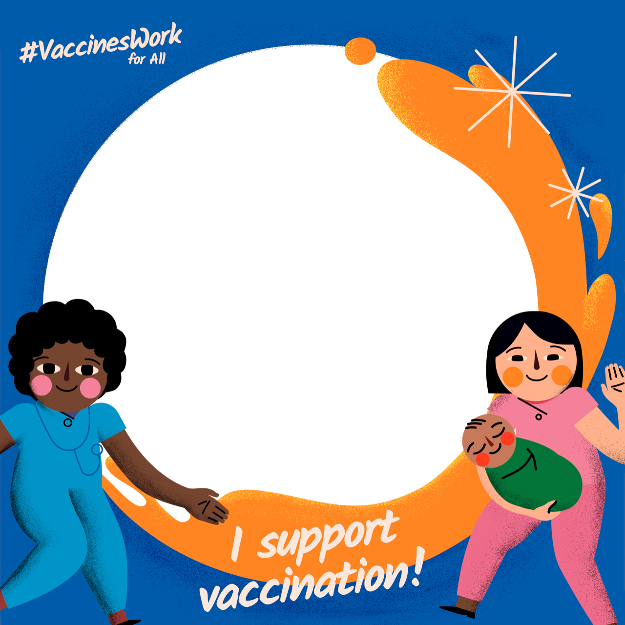 I Support Vaccination Profile Frame