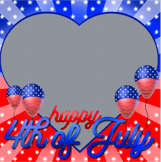 4th of July Profile Frame