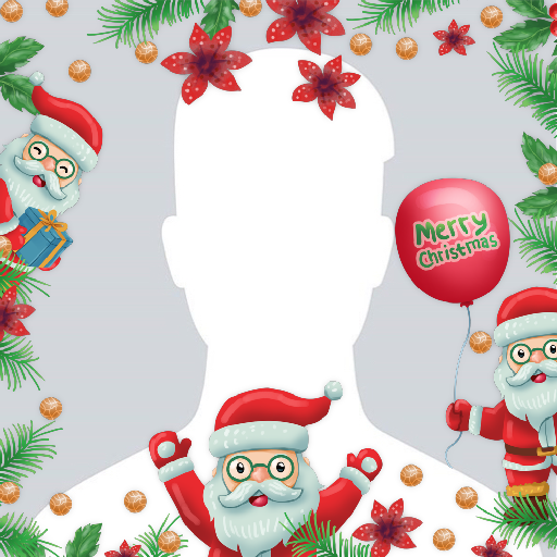 Merry Christmas Profile Frame